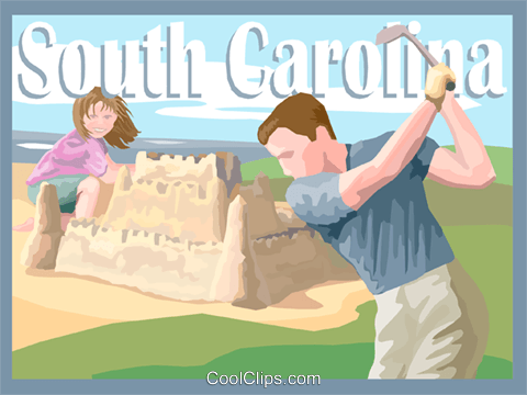 State of South Carolina Royalty Free Vector Clip Art illustration vc002594