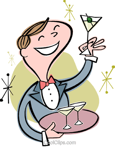 waiter Royalty Free Vector Clip Art illustration vc002599