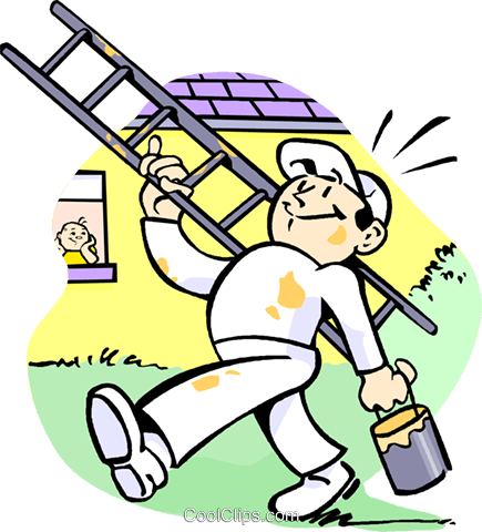 House painter Royalty Free Vector Clip Art illustration vc002602