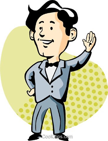 man waving Royalty Free Vector Clip Art illustration vc002605