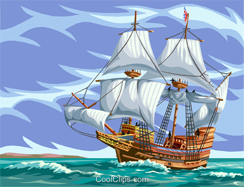 Tall ship Royalty Free Vector Clip Art illustration vc002610