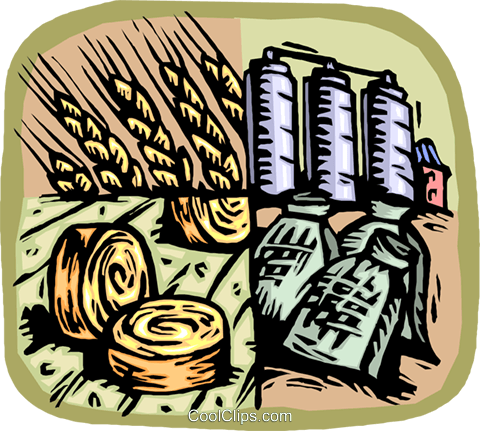 agricultural industry Royalty Free Vector Clip Art illustration vc002696