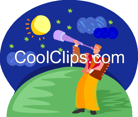 Child Observes The Stars In A Telescope. Royalty Free Cliparts, Vectors,  And Stock Illustration. Image 100039051.