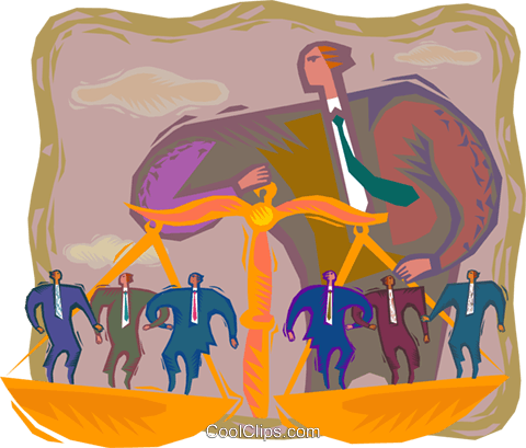 symbolic business; balancing Royalty Free Vector Clip Art illustration vc002886