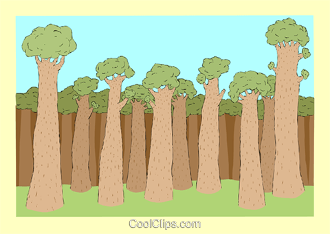 trees Royalty Free Vector Clip Art illustration vc002895
