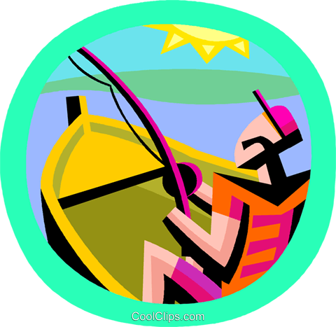 fishing Royalty Free Vector Clip Art illustration vc002911
