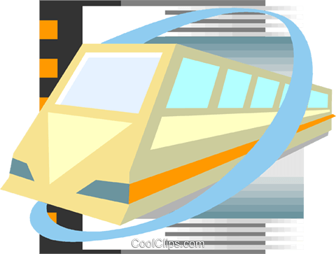 Commuter train Royalty Free Vector Clip Art illustration vc002928