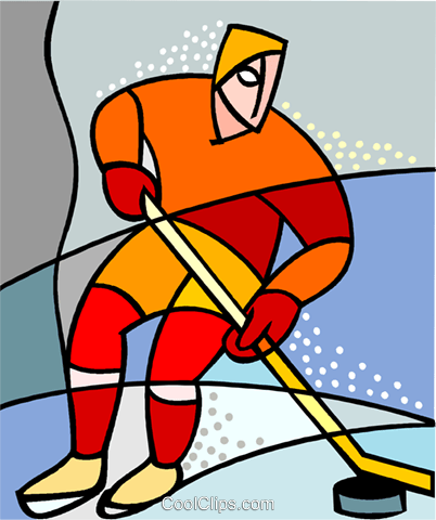 Hockey player Royalty Free Vector Clip Art illustration vc002937