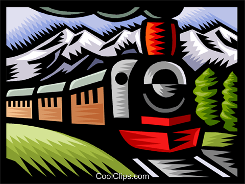 Steam train Royalty Free Vector Clip Art illustration vc002952