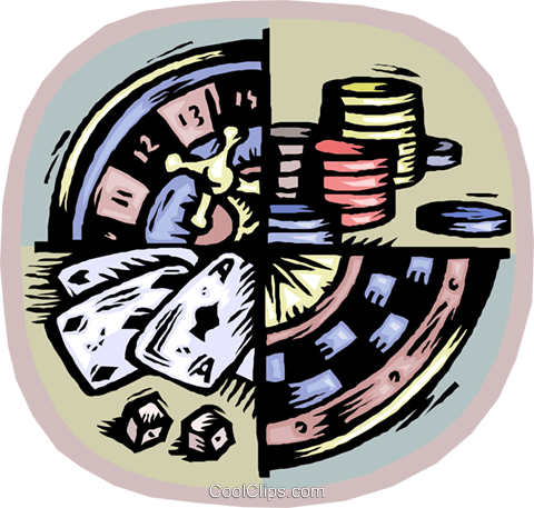casino gambling Royalty Free Vector Clip Art illustration vc003002