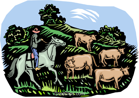 farm life, cattle farming Royalty Free Vector Clip Art illustration vc003036