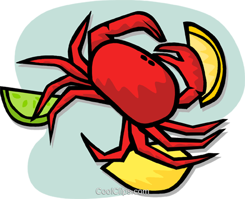 crab Royalty Free Vector Clip Art illustration vc003194