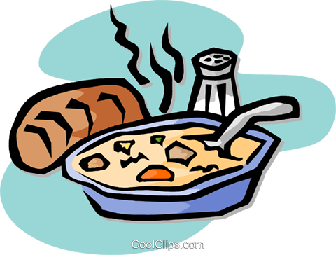 dinner, soup Royalty Free Vector Clip Art illustration vc003202