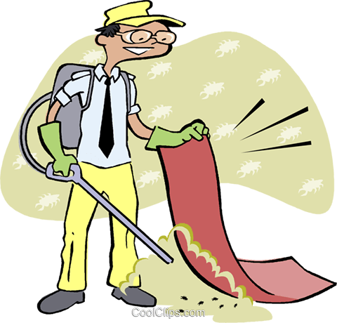 spraying pesticide Royalty Free Vector Clip Art illustration vc003232