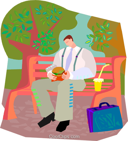 lunch in the park Royalty Free Vector Clip Art illustration vc003326