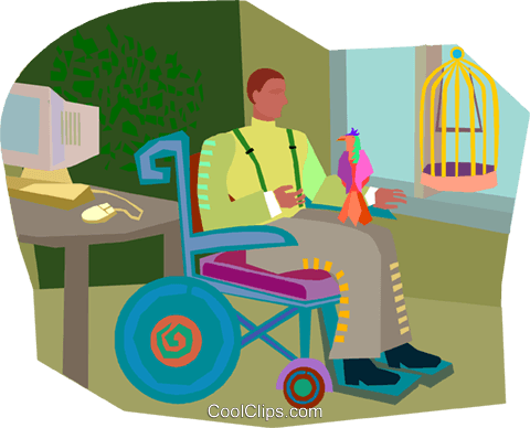 wheelchair, handicapped Royalty Free Vector Clip Art illustration vc003347