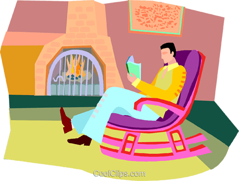 relaxing, reading Royalty Free Vector Clip Art illustration vc003353