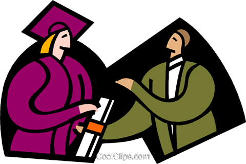 symbolic people; education, graduation Royalty Free Vector Clip Art illustration vc003362