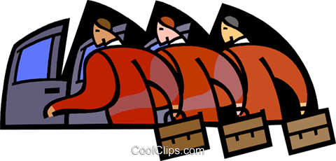 symbolic people; business, leaving Royalty Free Vector Clip Art illustration vc003371