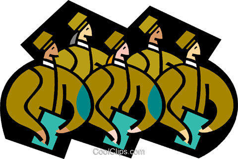 symbolic people; business Royalty Free Vector Clip Art illustration vc003375