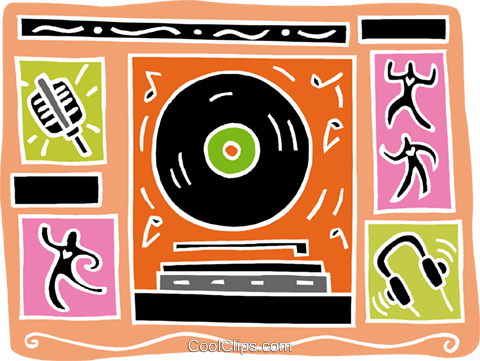 musical design Royalty Free Vector Clip Art illustration vc003427