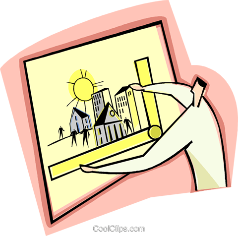 business developer, architect Royalty Free Vector Clip Art illustration vc003451