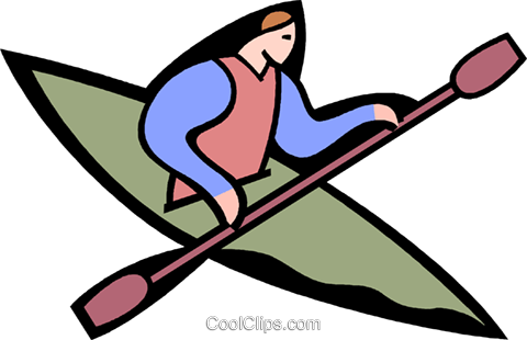 person kayaking Royalty Free Vector Clip Art illustration vc003619