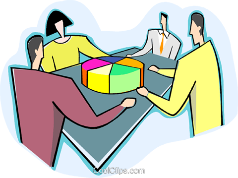 Delegating responsibility Royalty Free Vector Clip Art illustration vc003626