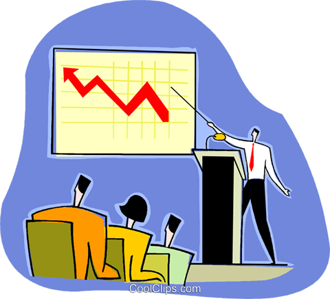 marketing report, sales on the rise Royalty Free Vector Clip Art illustration vc003642