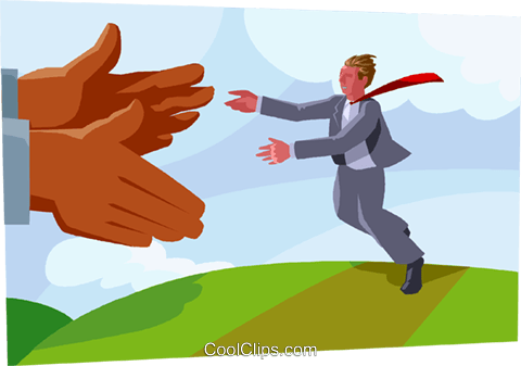 business metaphor, open hands Royalty Free Vector Clip Art illustration vc003665