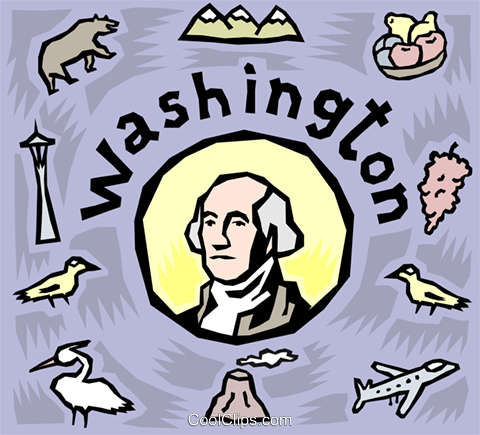 Washington Royalty Free Vector Clip Art illustration vc003765