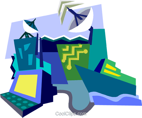 navigational communications Royalty Free Vector Clip Art illustration vc003855