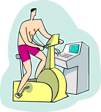 man working out on a stationary bike Royalty Free Vector Clip Art illustration vc003996