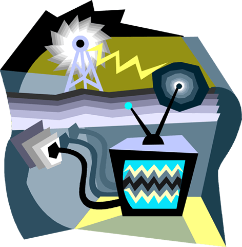 television transmission Royalty Free Vector Clip Art illustration vc004045