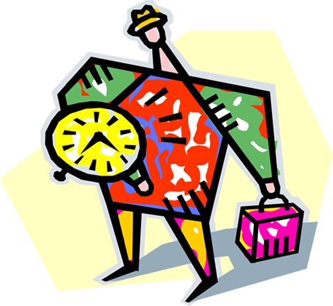 running late Royalty Free Vector Clip Art illustration vc004079