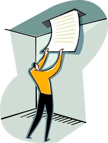 man receiving information Royalty Free Vector Clip Art illustration vc004196