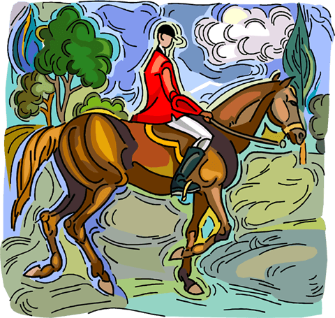 Man on horse back Royalty Free Vector Clip Art illustration vc004210