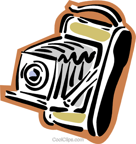 camera Royalty Free Vector Clip Art illustration vc004304