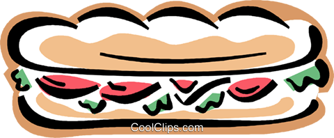 submarine sandwich, sub Royalty Free Vector Clip Art illustration vc004325