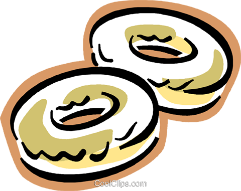 donuts Royalty Free Vector Clip Art illustration vc004331