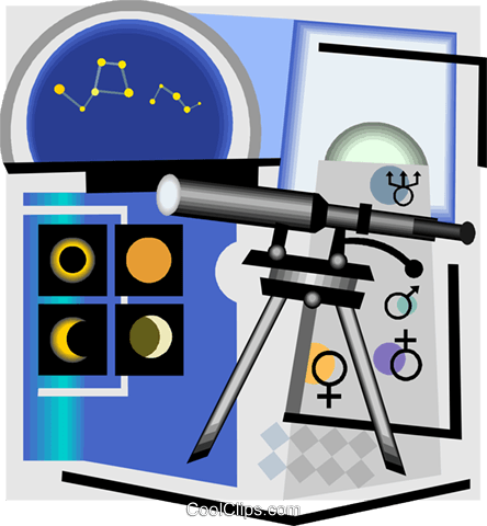 telescope Royalty Free Vector Clip Art illustration vc004371