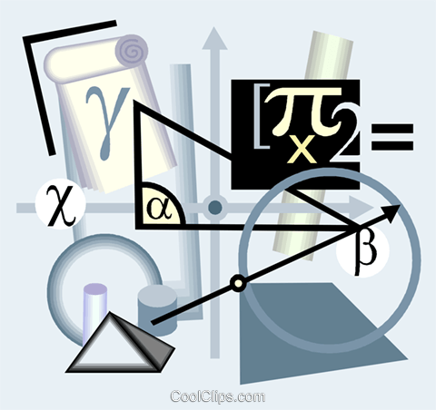 calculus motif Royalty Free Vector Clip Art illustration vc004391