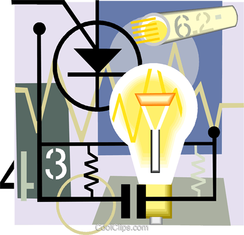 light bulb, electricity Royalty Free Vector Clip Art illustration vc004399