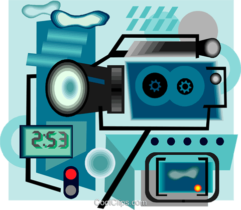 camcorder Royalty Free Vector Clip Art illustration vc004400