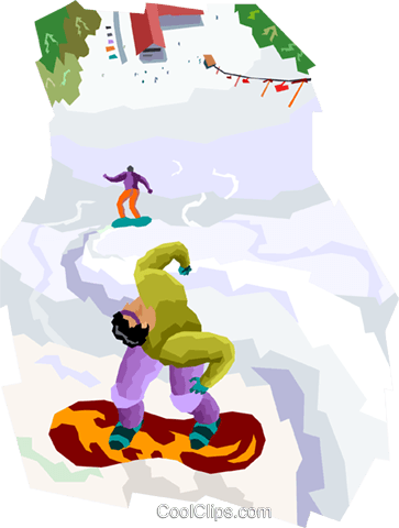 snowboarding Royalty Free Vector Clip Art illustration vc004412