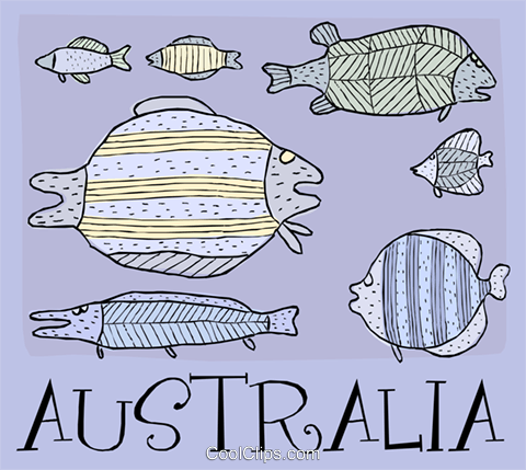 Australia Royalty Free Vector Clip Art illustration vc004431