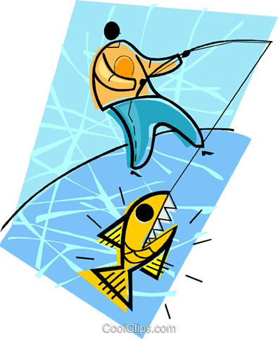 fishing Royalty Free Vector Clip Art illustration vc004470