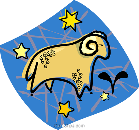 astrology sign, Aries Royalty Free Vector Clip Art illustration vc004484