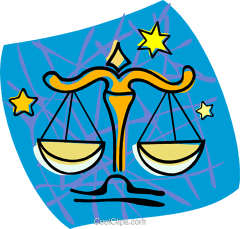 scales, Libra Royalty Free Vector Clip Art illustration vc004507