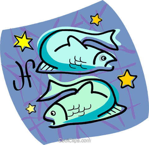 Pisces Royalty Free Vector Clip Art illustration vc004511